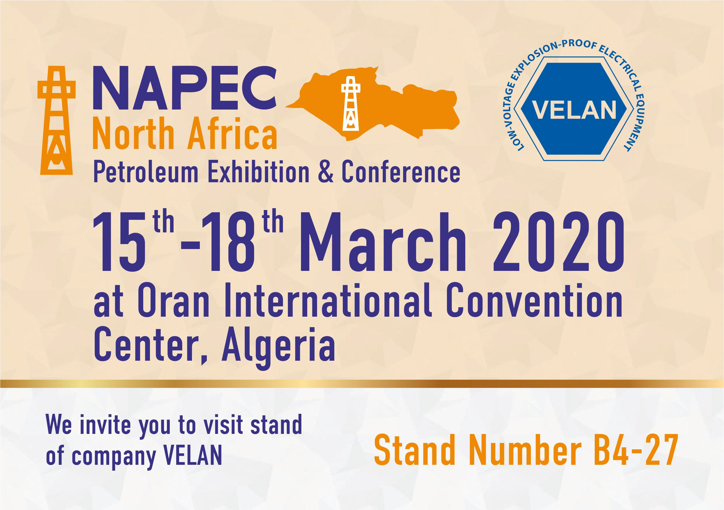 NAPEC 2020 - North Africa Petroleum Exhibition & Conference, Alger, Oran.