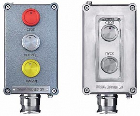 Explosionproof push-button stations PVK-PK from aluminum or plastic with piezo buttons