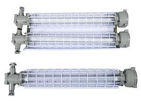 Mining lighting fixtures VEL51-Sh for linear fluorescent and LED lamps