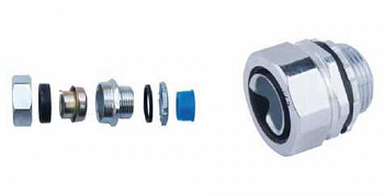 Coupling for metal hose of MMRn type (with hexagonal nut)