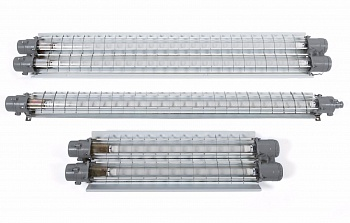Explosionproof lighting fixture for linear fluorescent or LED lamps VELAN51